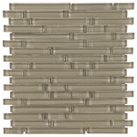 Pure Sand Stick Shiny Mosaic Glass Tile 8mm