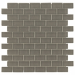 Pure Shadow Brick Matte Mosaic Glass Tile 8mm