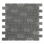 Pure Shadow Brick Mix Glass Tile 8MM