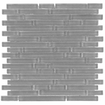 Pure Shadow Stick Matte Mosaic Glass Tile 8mm