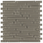 Pure Shadow Stick Shiny Mosaic Glass Tile 8mm