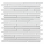 Pure Snow Stick Mix Mosaic Glass Tile 8mm