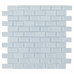 Pure Spa Blue Brick Mix Glass Tile 8MM