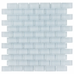 Pure Spa Blue Brick Mosaic Glass Tile 8mm