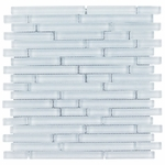 Pure Spa Blue Stick Matte Mosaic Glass Tile 8mm