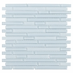 Pure Spa Blue Stick Mix Mosaic Glass Tile 8mm