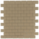 Pure Tan Brick Mosaic Glass Tile 8mm