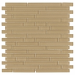 Pure Tan Stick Matte Mosaic Glass Tile 8mm