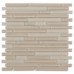 Pure Tan Stick Mix Mosaic Glass Tile 8mm