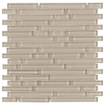 Pure Tan Stick Shiny Mosaic Glass Tile 8mm