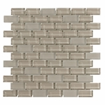 Pure Vanilla Brick Mix Glass Tile 8MM