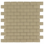 Pure Vanilla Brick Mosaic Glass Tile 8mm