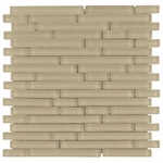 Pure Vanilla Stick Matte Mosaic Glass Tile 8mm