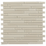 Pure Vanilla Stick Mix Mosaic Glass Tile 8mm