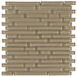 Pure Vanilla Stick Shiny Mosaic Glass Tile 8mm