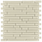 Pure Vanilla Shiny Stick Glass Mosaic