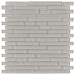 Pure Wool Stick Matte Mosaic Glass Tile 8mm