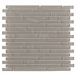 Pure Wool Stick Shiny Mosaic Glass Tile 8mm
