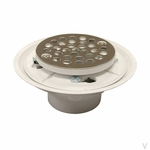 PVC Shower Floor Drain with SS Strainer
