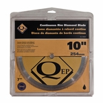 QEP Premium Continuous Rim Wet Saw Blade 10in.