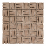 Roma Maximus Mosaic Travertine Tile