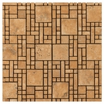 Roma Quintus Mosaic Travertine Tile