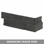Royal Black Slate Corner Panel Ledger