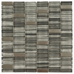 Santa Lucia Brick Mosaic Glass & Metal Tile 8mm
