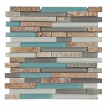 Santiago Glass & Stone Mix Tile 8mm