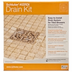 Schluter-Kerdi Brushed Nickel Square Grate w Flange