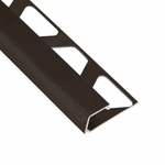Schluter-Quadec Antique Bronze Anodized Aluminum Square Edge