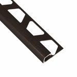 Schluter-Quadec Brushed Antique Bronze Anodized Aluminum Profile Edge