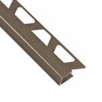 Schluter-Quadec Satin Nickel Anodized Aluminum Square Edge
