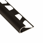 Schluter-Rondec Brushed Black Anodized Aluminum Bullnose Trim Profile
