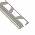 Schluter-Rondec Polished Chrome Anodized Aluminum Bullnose Trim Profile