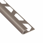 Schluter-Rondec Satin Nickel Anodized Aluminum Bullnose Trim Profile