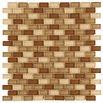 Sedona Mini Brick Mosaic Glass Tile 8mm