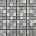 Shiny Gray Mix Mosaic Glass Tile 8mm