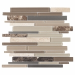 Smoky Mica Mosaic Glass and Stone Tile