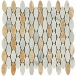 Soho Ellipse Light Mix Mosaic Marble Tile