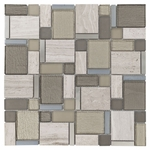 Stone Matrix Modern Mosaic Glass Tile