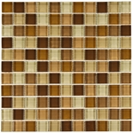 Supreme Beige Mix Mosaic Glass Tile 8mm