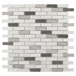 Taveuni Brick Mosaic Glass Tile