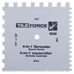 TileForce 4-in-1 Square-Notch Spreader
