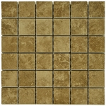 Travertine Mocha Mosaic Porcelain Tile