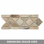 Tuscan Mix Mosaic Slate Border Design 2