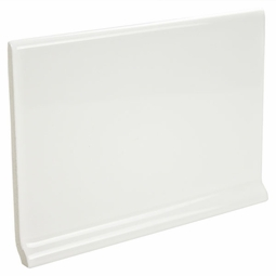Ultra Brite White Ceramic Cove Base Tile