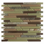 Valencia Mix Stick Mosaic Glass & Stone Tile 8mm