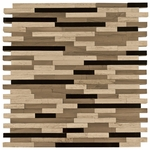 Valentino Dark Mixed Stick Mosaic Marble Tile