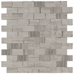 Valentino Gray Mixed Brick Mosaic Marble Tile